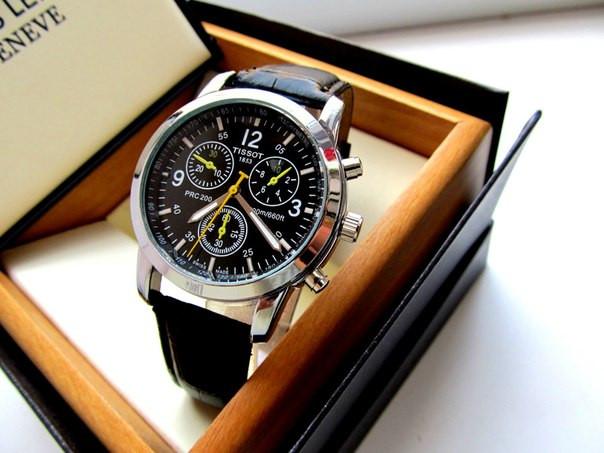 Мужские часы Tissot. Магазин мужских часов. Наручные часы. Часы для мужчин. Кварцевые часы. Код: КЧ8 - фото 3