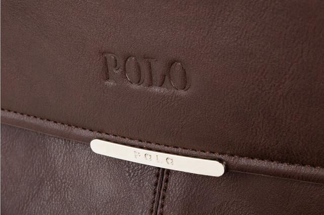 Мужская сумка портфель ПОЛО А4. Сумки для мужчин. Модные сумки. Офисные сумки. Код: КСЕ63 - фото 5