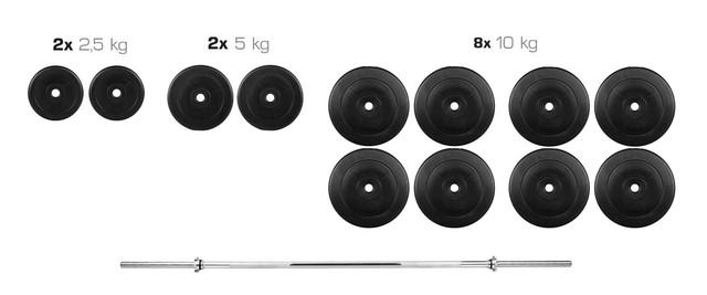 Штанга 105 кг разборная фиксированная прямая (розбірна фіксована пряма) - фото 2