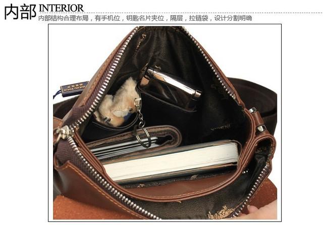 Мужская кожаная сумка POLO. Сумки кожаные. Кожанная cумка. Код: КС2-1 - фото 2