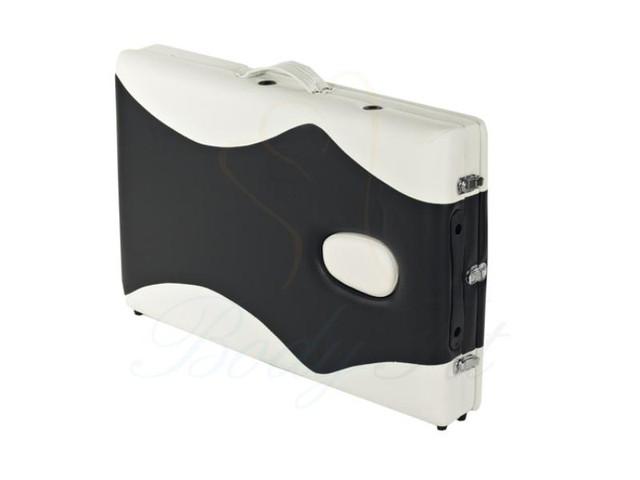 Массажный стол профессиональный деревянный 2-х сегментный Body Fit (Черно-белый) - фото 2