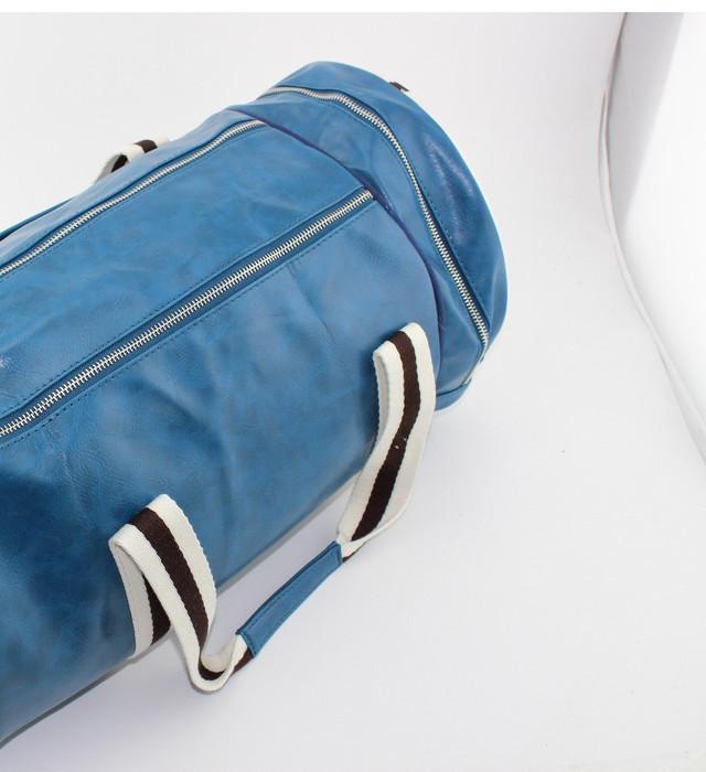 Спортивная сумка Fred Perry. Мужская сумка через плече. Сумка для спорта. Сумка мешок. Кожаная сумка. Код: КСС1 - фото 4