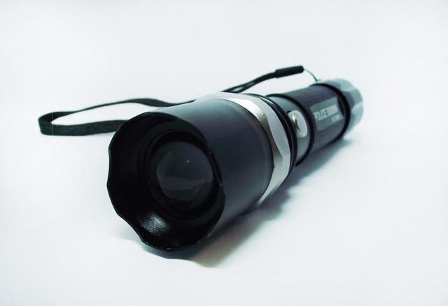Тактический фонарик BL-T8626. Синий свет. Фонарь Bailong. Новинка. Анодированный алюминий. Код: КТМТ161 - фото 1