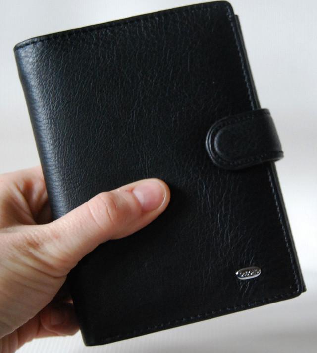 Мужской кожаный кошелек,  портмоне, бумажник. Кошелек на подарок. НАТУРАЛЬНАЯ КОЖА! Код: КСЕ112 - фото 1