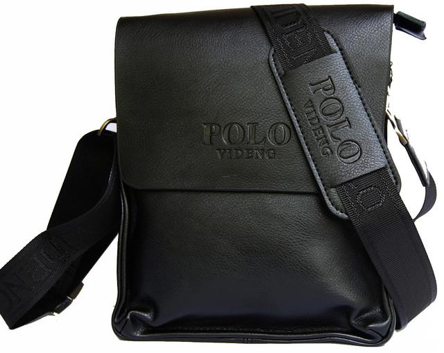 Красивая мужская сумка ПОЛО. Отличное качество. Кожаная сумка. Качественные сумки ПОЛО. Код: КСДЕ22-1 - фото 6