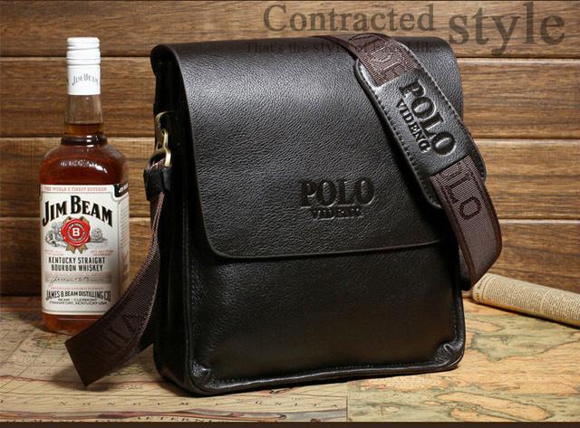 Красивая мужская сумка ПОЛО. Отличное качество. Кожаная сумка. Качественные сумки ПОЛО. Код: КСДЕ22-1 - фото 5