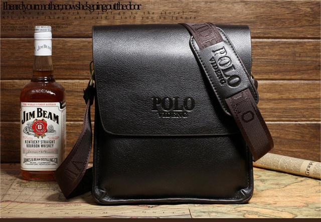 Красивая мужская сумка ПОЛО. Отличное качество. Кожаная сумка. Качественные сумки ПОЛО. Код: КСДЕ22-1 - фото 1