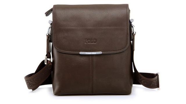 Мужская кожаная сумка POLO. Сумки кожаные. Кожанная cумка. Код: КС2-1 - фото 4