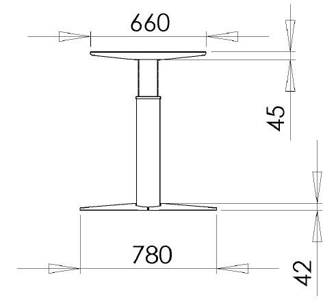 Основа стола, 501-23-7S400 - фото 2
