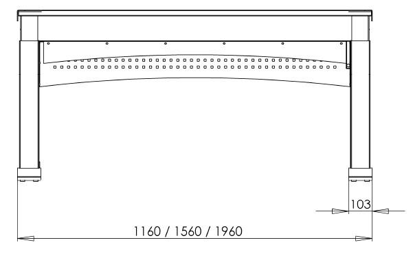 Регулируемый по высоте стол 501-11S156-156 - фото 3