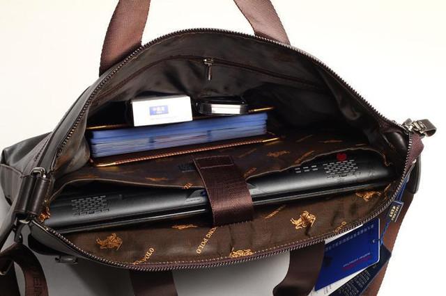 Стильная Мужская кожаная сумка-портфель ПОЛО. Высокое качество. Портфель для мужчин. КожаPU  Код: КСЕ148 - фото 5