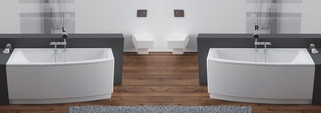 Ванна акриловая Aquaform Arcline 150х70х42 асимметричная - фото 1