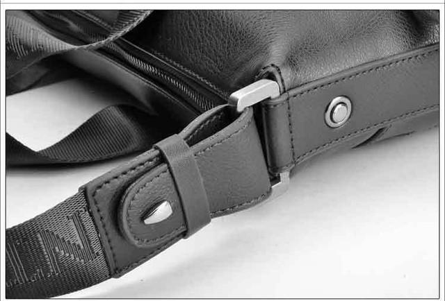 Стильная Мужская кожаная сумка-портфель ПОЛО. Высокое качество. Портфель для мужчин. КожаPU  Код: КСЕ148 - фото 4