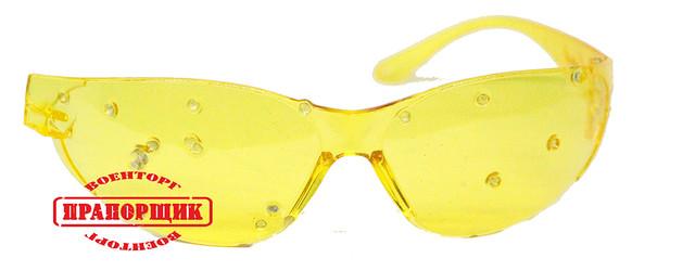 Баллистические очки желтые - фото 1