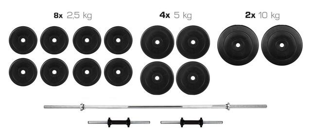 Гантели 2*21 кг разборные + Штанга 70 кг прямая фиксированная (комплект гантелі розбірні + пряма штанга) - фото 2