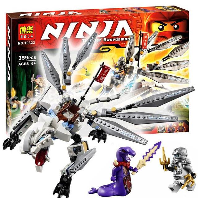 """Конструктор Bela NINJA Динозавр """"Титановый дракон"""" 10323, аналог лего 70748 - фото 1"""