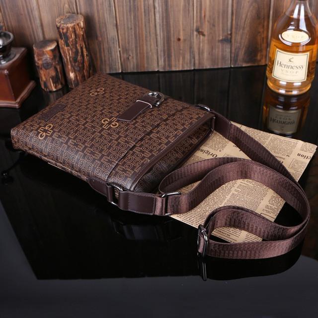 Мужская кожаная сумка. Высокое качество сумки. Удобная стильная сумка. Сумки через плече. Код: КС27-3 - фото 3