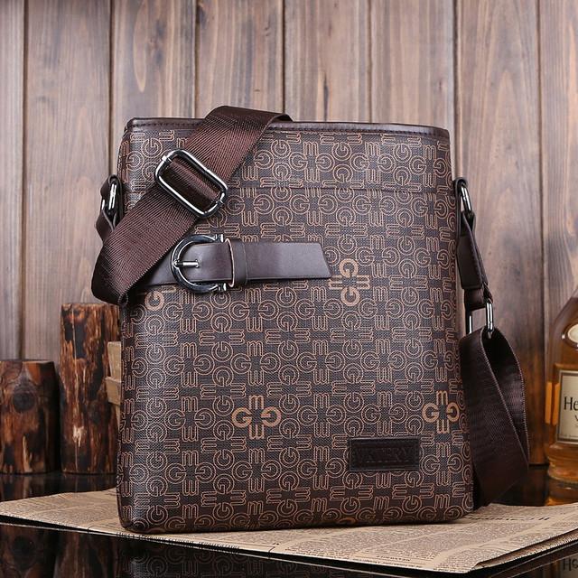 Мужская кожаная сумка. Высокое качество сумки. Удобная стильная сумка. Сумки через плече. Код: КС27-3 - фото 1