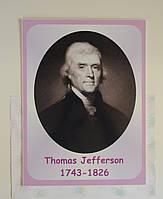 Портреты английских поэтов и писателей Thomas Jefferson 25х33 см