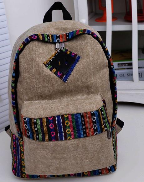 Городской модный рюкзак. Рюкзак-портфель из холста. Рюкзаки унисекс (мужские и женские). Код: КРСС130 - фото 2