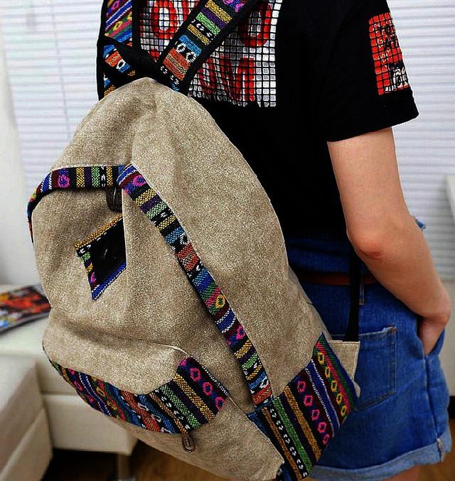 Городской модный рюкзак. Рюкзак-портфель из холста. Рюкзаки унисекс (мужские и женские). Код: КРСС130 - фото 1