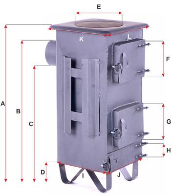 Печь буржуйка стальная 160м2 7 шамотных кирпичей с чугунной плитой - фото 3