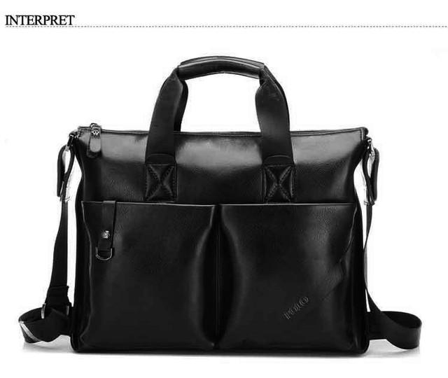 Стильная Мужская кожаная сумка-портфель ПОЛО. Высокое качество. Портфель для мужчин. КожаPU  Код: КСЕ148 - фото 7