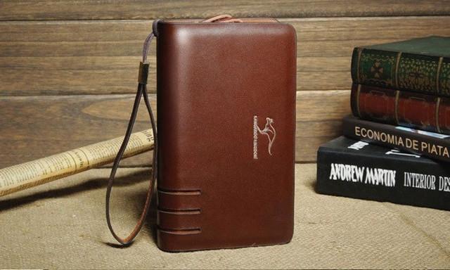 Стильный клатч KANGAROO KINGDOM. Недорогое кожаное портмоне. Практичный клатч. Код: КС30 - фото 1