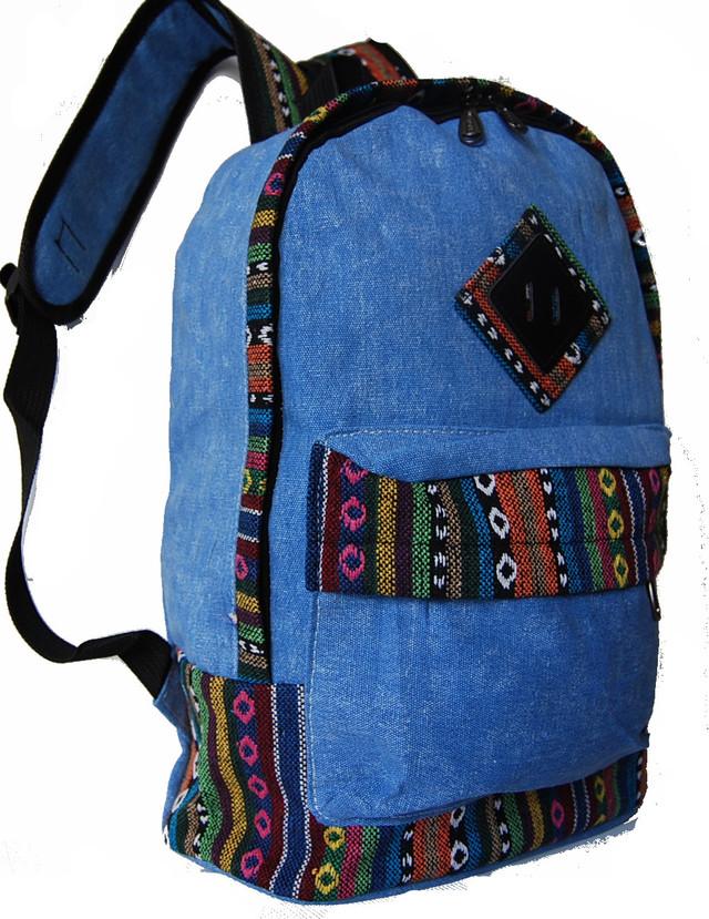 Городской рюкзак. Модный рюкзак-портфель из холста. Современный рюкзак. Рюкзак унисекс. Код: КРСС013 - фото 2