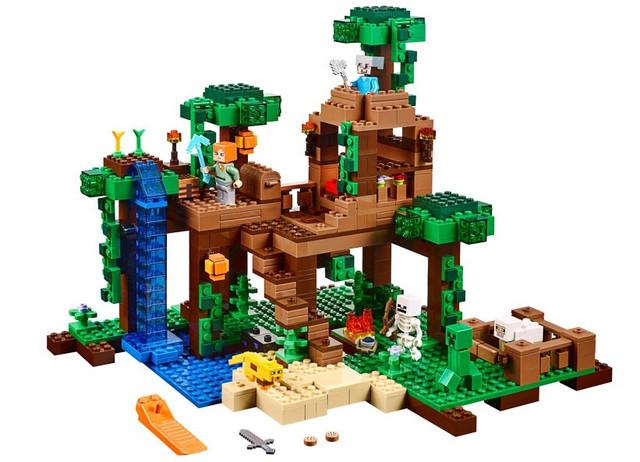 Конструктор Bela 10471 Домик на дереве в джунглях (аналог Lego Майнкрафт, Minecraft 21125), 718 дет - фото 1