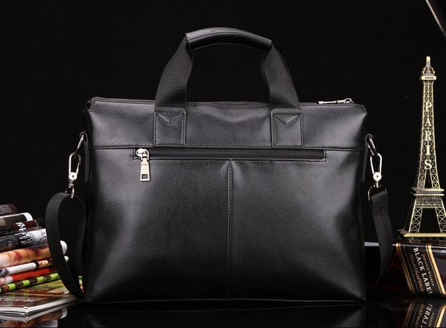 Мужская кожаная сумка Polo. Портфель. Бизнес сумка.  Высокое качество. Сумка через плече. Код: КС23. - фото 6