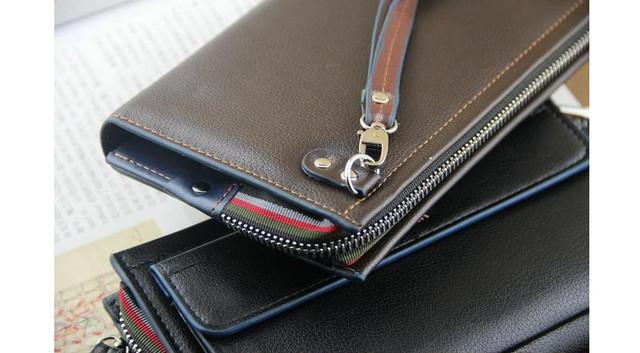 Качественная Мужская кожаная сумка, борсетка, клатч, кошелек ДАНИЛУ. Код: КСЕ68 - фото 6