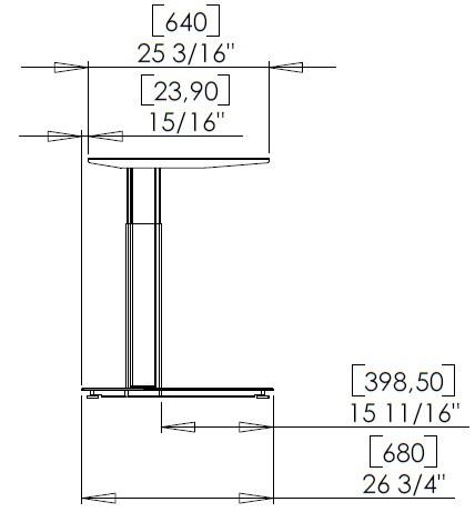Основа стола, Conset 501-29-7S152 - фото 4