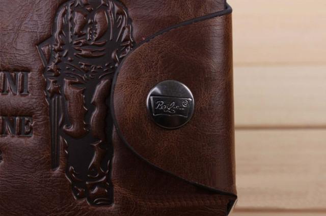 Хит продаж! Мужской кожаный кошелек, портмоне, бумажник. Кошельки для мужчин БАИЛИНИ. Лучший подарок. Код: КСЕ120 - фото 3