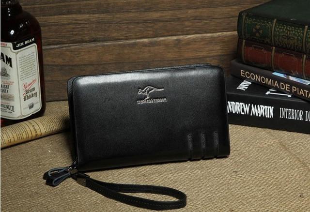 Стильный клатч KANGAROO KINGDOM. Недорогое кожаное портмоне. Практичный клатч. Код: КС30 - фото 2