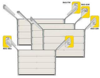 Секционные гаражные ворота Ryterna R40 с пружинами растяжения