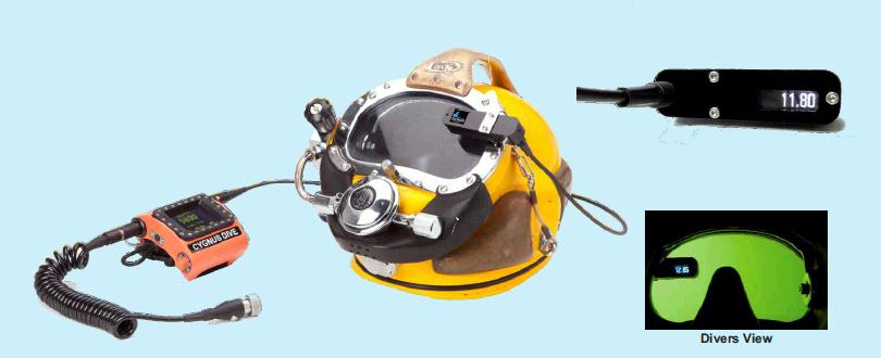 Ультразвуковой подводный толщиномер Cygnus DIVE - фото dive_helmetview.jpg