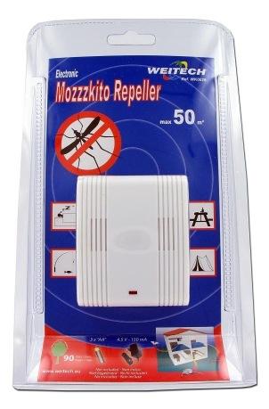 Упаковка ультразвукового отпугивателя комаров Weitech WK0029