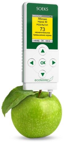 """Экотестер """"СОЭКС"""" в режиме оценки содержания нитратов (нажмите для увеличения)"""