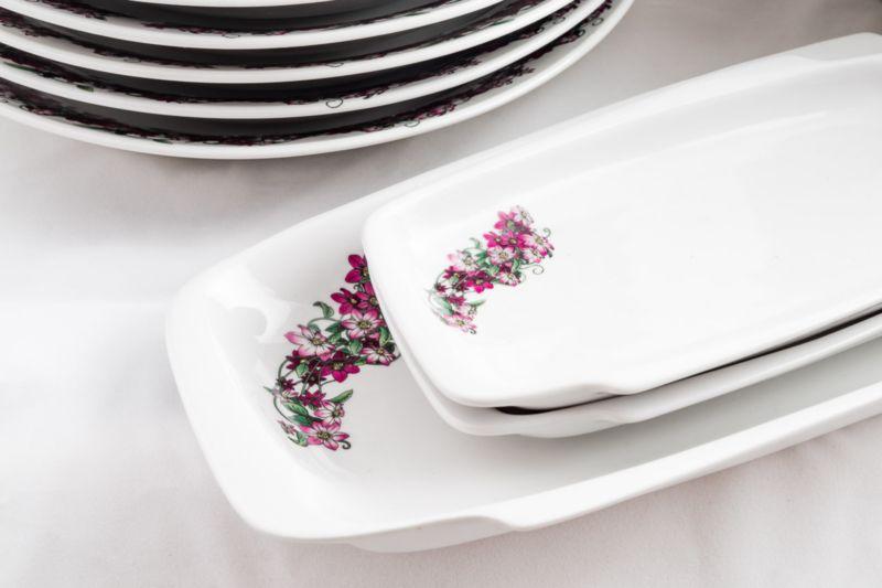 Столовые сервизы - фото Продолговатые тарелки