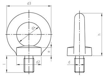 Картинки по запросу Рым-болты DIN 580 стальные