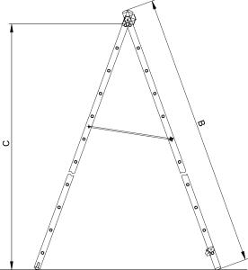 """Двухсекционная универсальная лестница TREND """"VHR T"""""""