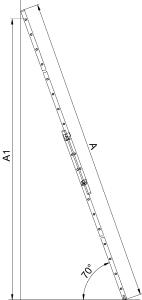 """Алюминиевая двухсеционная лестница HOBBY """"VHR H"""""""