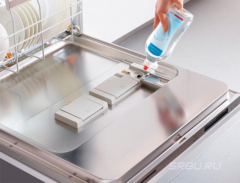 Посудомоечные машины - фото Жидкий ополаскиватель для посудомоечной машины