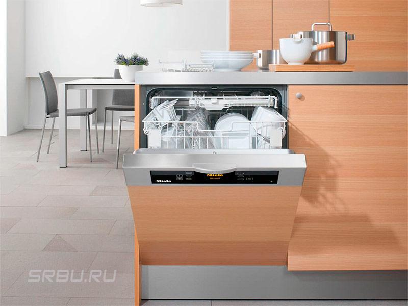 Посудомоечные машины - фото Частично встраиваемая посудомоечная машина