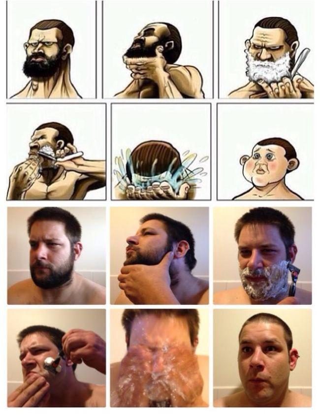 Именно так это и происходит борода, мужчины