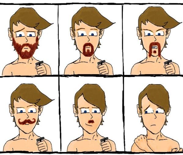 Тот самый момент, когда выходишь из отпуска борода, мужчины
