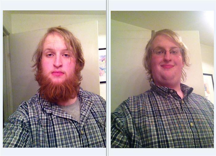 Матерь божья борода, мужчины
