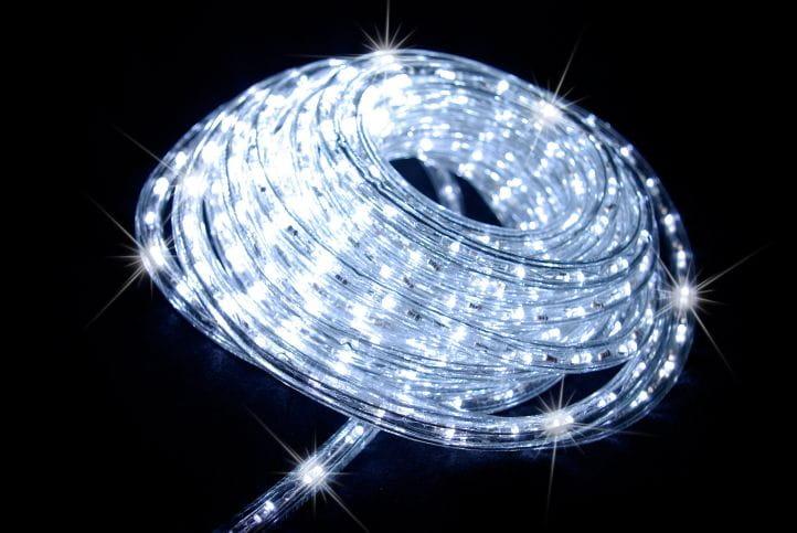 СВІТЛОДІОДНИЙ СВІТЛОВИЙ ШЛАНГ ЗОВНІШНИЙ 10 м. ПРОХОЛОДІ БІЛІ ЛАМПИ Кількість ламп 201 - 300