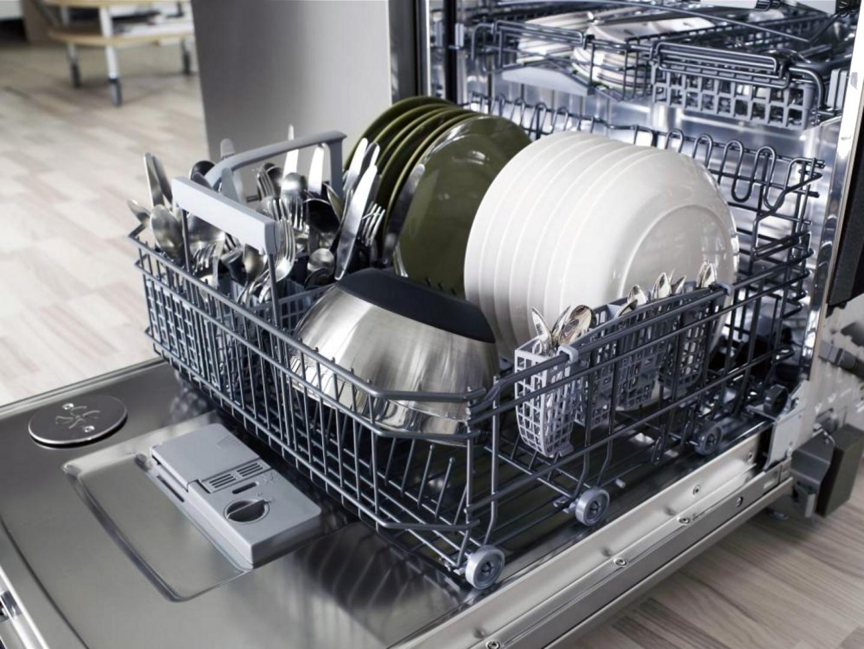 Сковороды с покрытием гранит - фото Посуда в посудомоечной машине